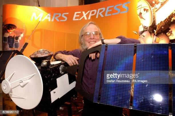 Professor Colin Pillinger with a model of the orbiter Mars Express at the Royal Society London * The orbiter which is scheduled to blast off from a...