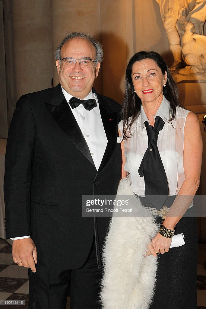 Professor David Khayat (L) and his wife Jocelyne attend the gala dinner of Khayat's association 'AVEC', at Chateau de Versailles on February 4, 2013 in Versailles, France.