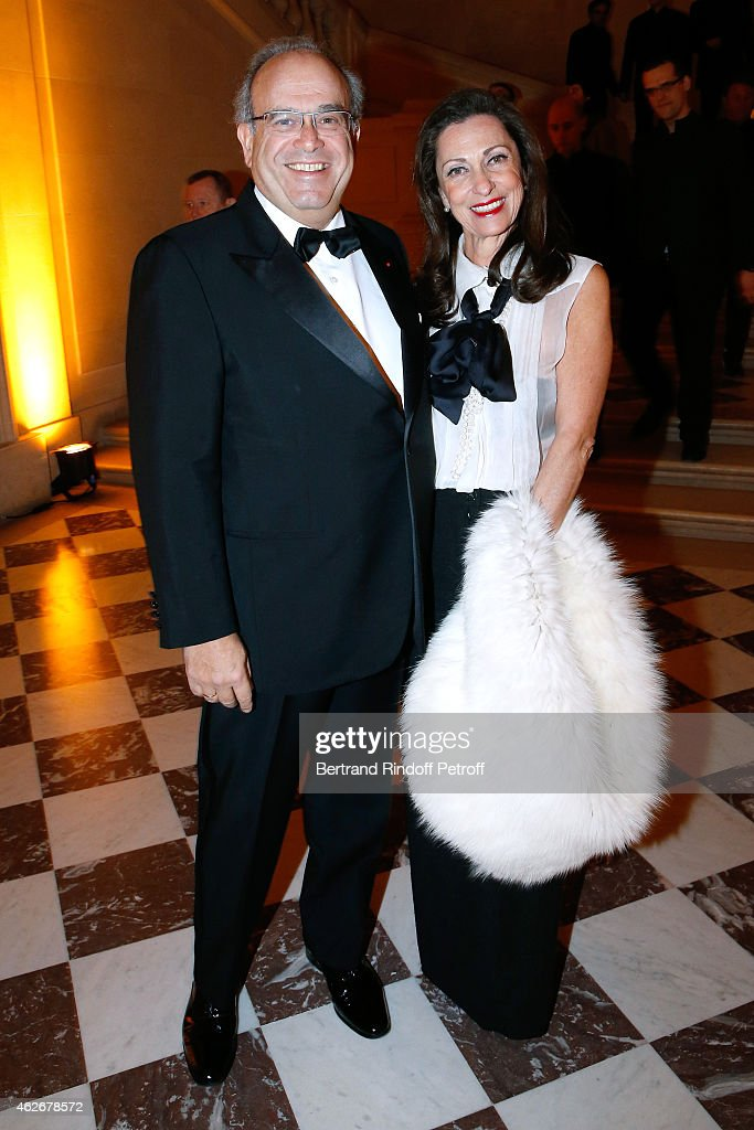 Professor David Khayat and his wife Jocelyne Khayat attend the David Khayat Association 'AVEC' Gala Dinner Held at Versailles Castle on February 2...