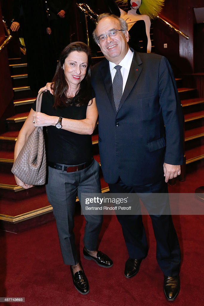 Professor David Khayat and his wife Jocelyne Khayat attend the 'Mugler Follies' Paris new variety show premiere on December 18 held at 'Le Comedia'...