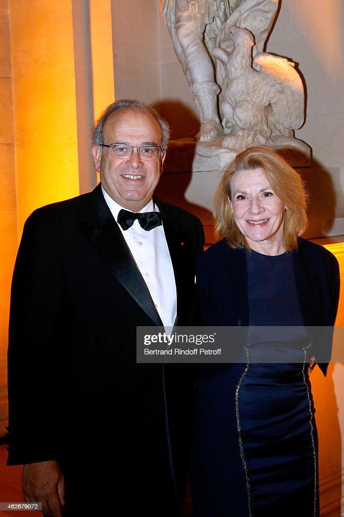 Professor David Khayat and President of the Versailles Castle Catherine Pegard attend the David Khayat Association 'AVEC' Gala Dinner Held at...
