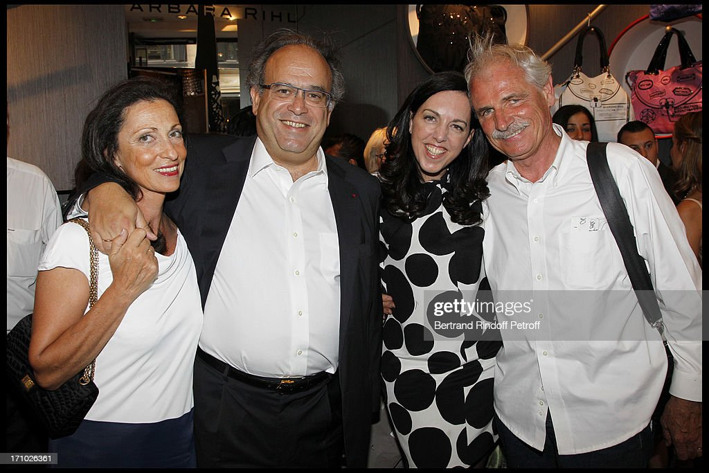 Boutique Arthus Bertrand Paris #6: Professor David Khayat, With His Wife, Barbara Rhil, Yann Arthus Bertrand  At Inauguration