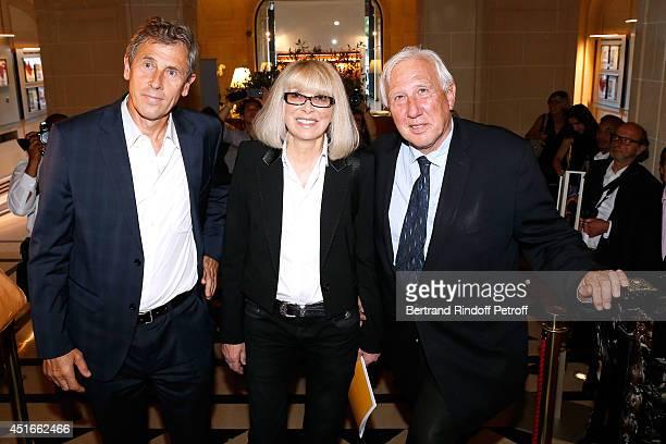 Professor Eric Cheysson host of the event actress Mireille Darc and Professor Alain Deloche attend 'Le Coeur Des Createurs' Auction at Christie's on...