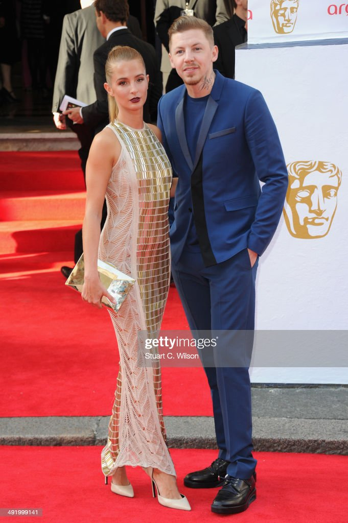Professor Green and Millie Mackintosh attend the Arqiva British Academy Television Awards at Theatre Royal on May 18 2014 in London England