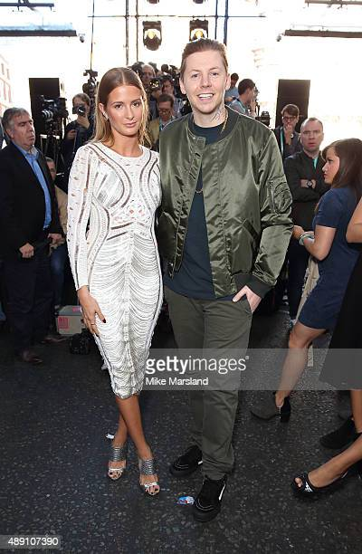Professor Green and Millie Mackintosh attend the Julien Macdonald show during London Fashion Week Spring/Summer 2016/17 on September 19 2015 in...