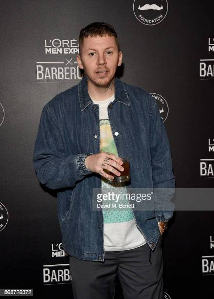 Professor Green attends the L'Oreal Paris Men Expert and Movember Charity Partnership event at The Bike Shed on October 31 2017 in London England