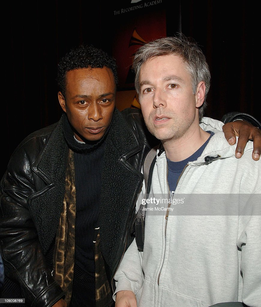 Professor Griff of Public Enemy and Adam Yauch of Beastie Boys attend the Recording Academy Private Industry Screening of 'Public Enemy: Welcome to the Terrordome' on December 21, 2007 at the Directors Guild of America in New York City. (Photo by Jamie McC