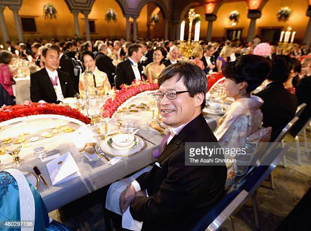 Professor Hiroshi Amano attends the Nobel Prize Banquet 2014 at City Hall on December 10 2014 in Stockholm Sweden