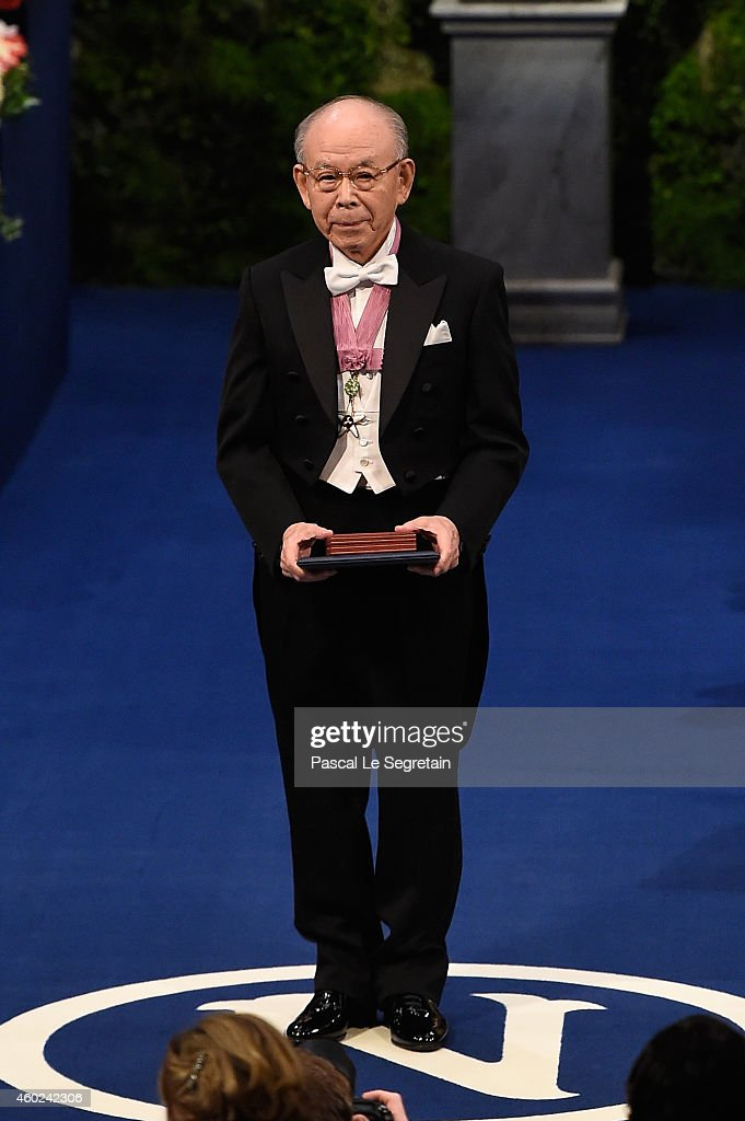 Professor Isamu Akasaki, laureate of the Nobel Prize in Physics acknowledges applause after he received his Nobel Prize from King Carl XVI Gustaf of Sweden during the Nobel Prize Awards Ceremony at Concert Hall on December 10, 2014 in Stockholm, Sweden.