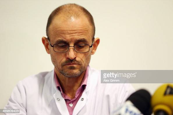 ... Professor JeanFrancois Payen looks on during a press conference at ... - professor-jeanfrancois-payen-looks-on-during-a-press-conference-at-picture-id459809403?s=594x594