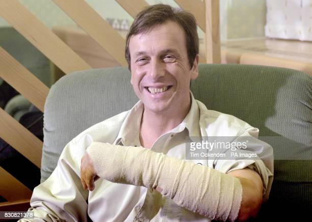 Professor Kevin Warwick at Oxford's Radcliffe Infirmary after his operation to place a mirochip in his arm Surgeons have carried out a groundbreaking...