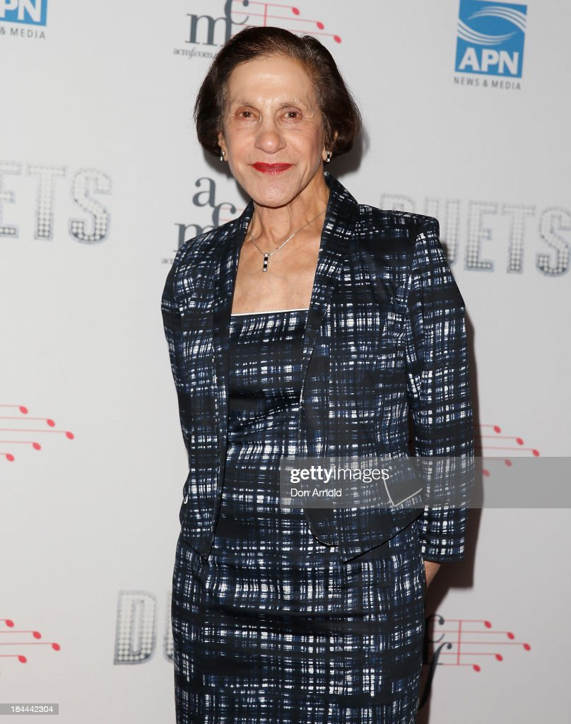 Professor Marie Bashir poses at the 4th Annual Duets Gala concert at the Capitol Theatre on October 14, 2013 in Sydney, Australia.