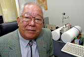 Professor Masatoshi Koshiba poses for a portrait in his office at Tokyo University October 10 2002 in Tokyo Japan Koshiba received the 2002 Nobel...