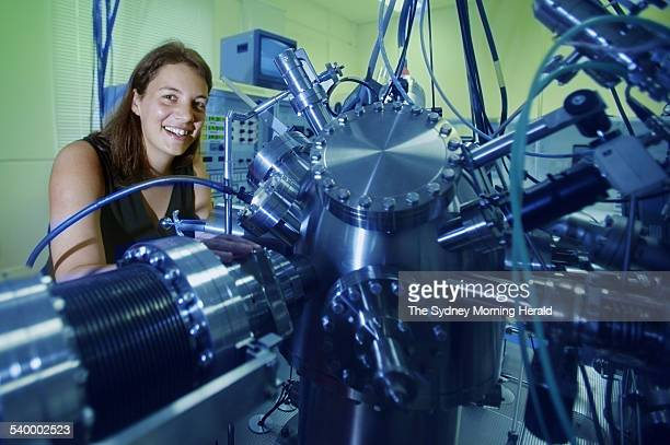Professor Michelle Y Simmons Director of Atomic Fabrication Facility Centre for Quantum Computer Technology at UNSW working in the Lab 2 March 2006...