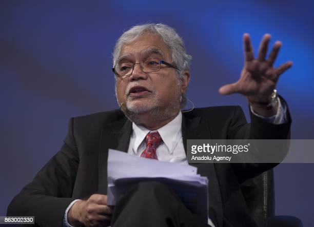 Professor Mukesh Kapila Professor of Global Health and Humanitarian Affairs at The University of Manchester makes a speech during the 'Humanitarian...