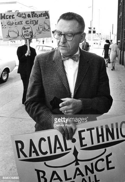 Professor Pickets for Integration Jules Mondschein assistant professor of social work at the University of Denver was among 35 persons who picketed...