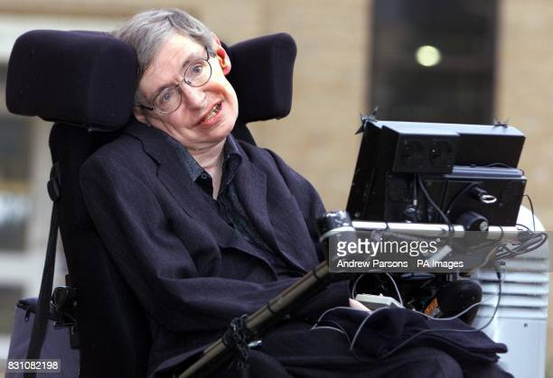 Professor Stephen Hawking attends a photocall at the University of Cambridge's Centre for Mathematical Sciences to celebrate his 60th birthday last...