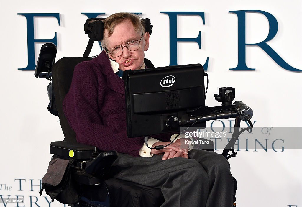 Professor <a gi-track='captionPersonalityLinkClicked' href=/galleries/search?phrase=Stephen+Hawking&family=editorial&specificpeople=215281 ng-click='$event.stopPropagation()'>Stephen Hawking</a> attends the UK Premiere of 'The Theory Of Everything' at Odeon Leicester Square on December 9, 2014 in London, England.