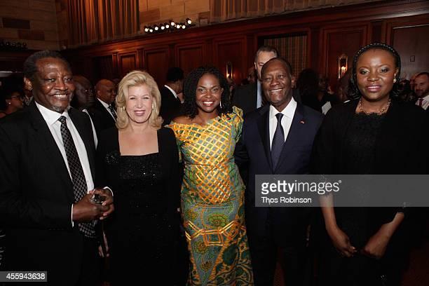 Professor Thandika Mkandawire First Lady of Ivory Coast Dominique FollorouxOuattara AAI President CEO Amini Kajunju Ivory Coast President Alassane...