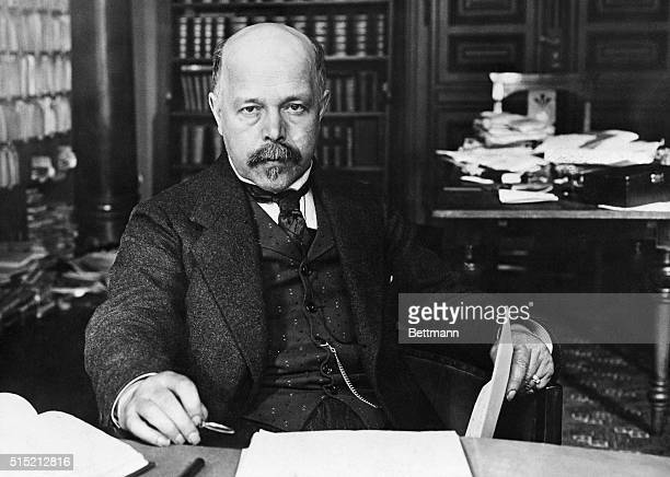 Professor Walther Hermann von Nernst winner of 1920 Nobel Prize in Chemistry for his socalled third law of thermodynamics Seated portrait photograph...