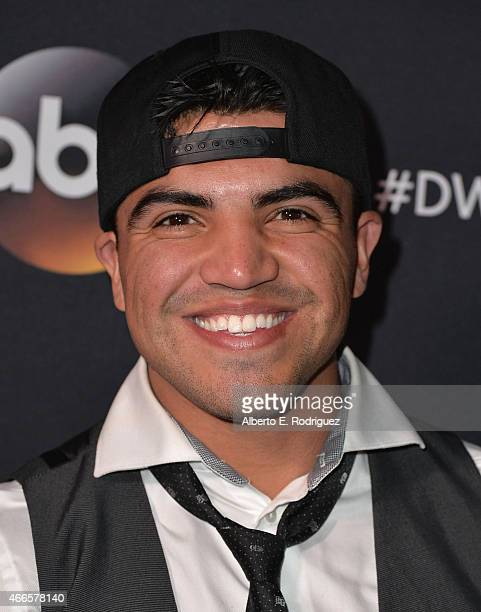 Professsional boxer Victor Ortiz attends the premiere of ABC's 'Dancing With The Stars' season 20 at HYDE Sunset Kitchen Cocktails on March 16 2015...
