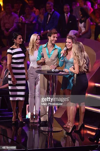 Profi Coach Alla Bastert Tkachenko Ramona Drews singer Marc Aurel Zeeb singer Joelina Drews and presenter Sylvie Meis are discussing their...