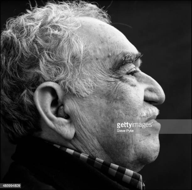 Profile headshot portrait of Nobel prizewinning Columbian author and journalist Gabriel Garcia Marquez Los Angeles California July 2007