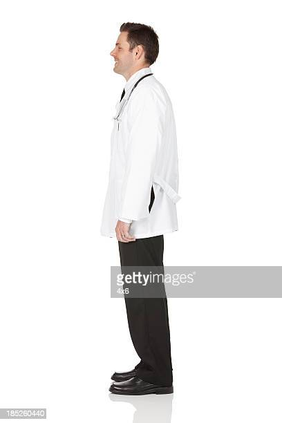 Profile of a male doctor standing