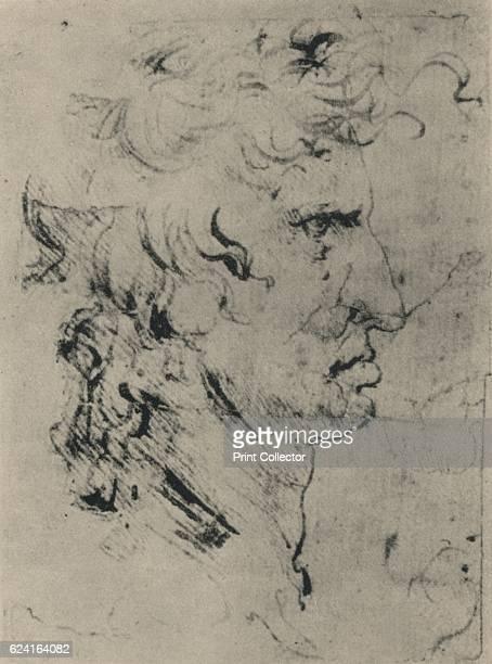 Profile of a Man to the Right' c1480 From The Drawings of Leonardo da Vinci [Reynal Hitchcock New York 1945] Artist Leonardo da Vinci