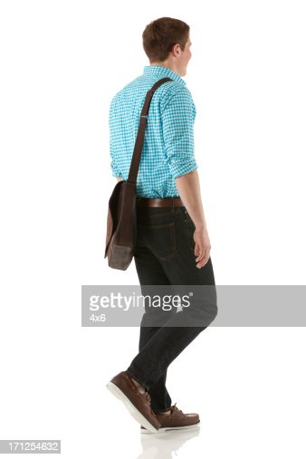 Profile of a man walking