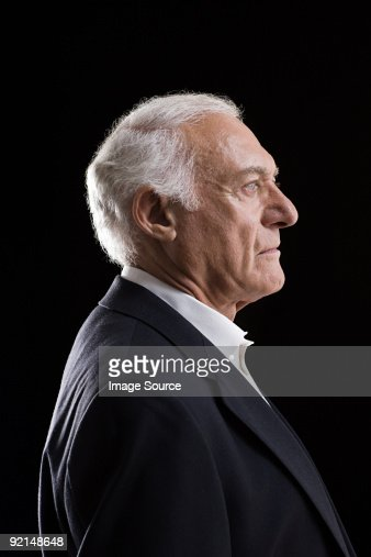 Profile of a senior adult man