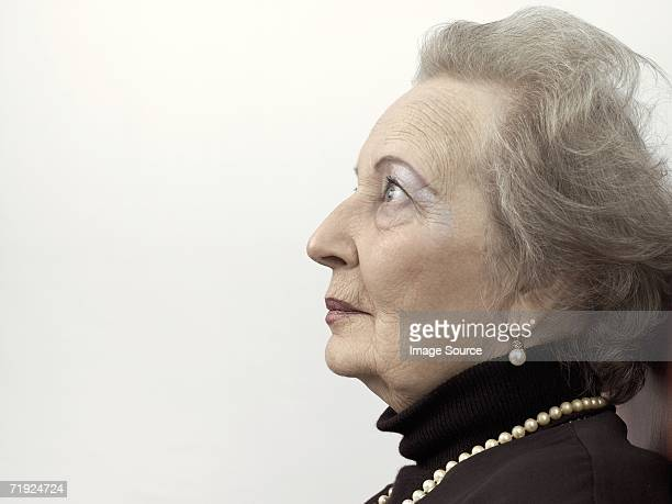 Profile of a senior adult woman