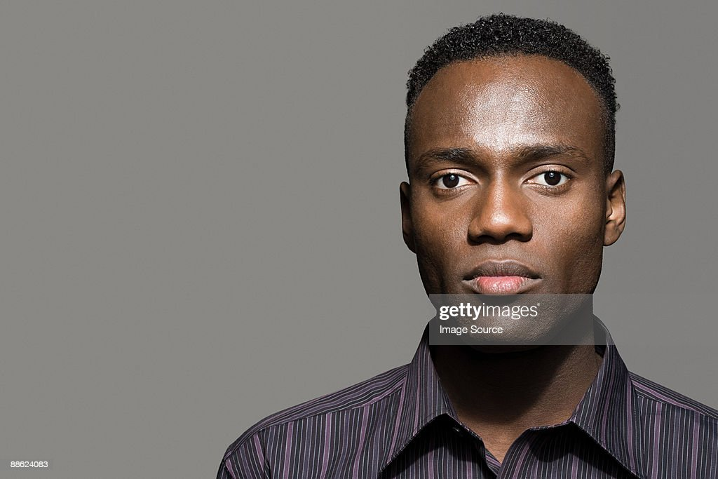 Profile of a young man : Stock Photo