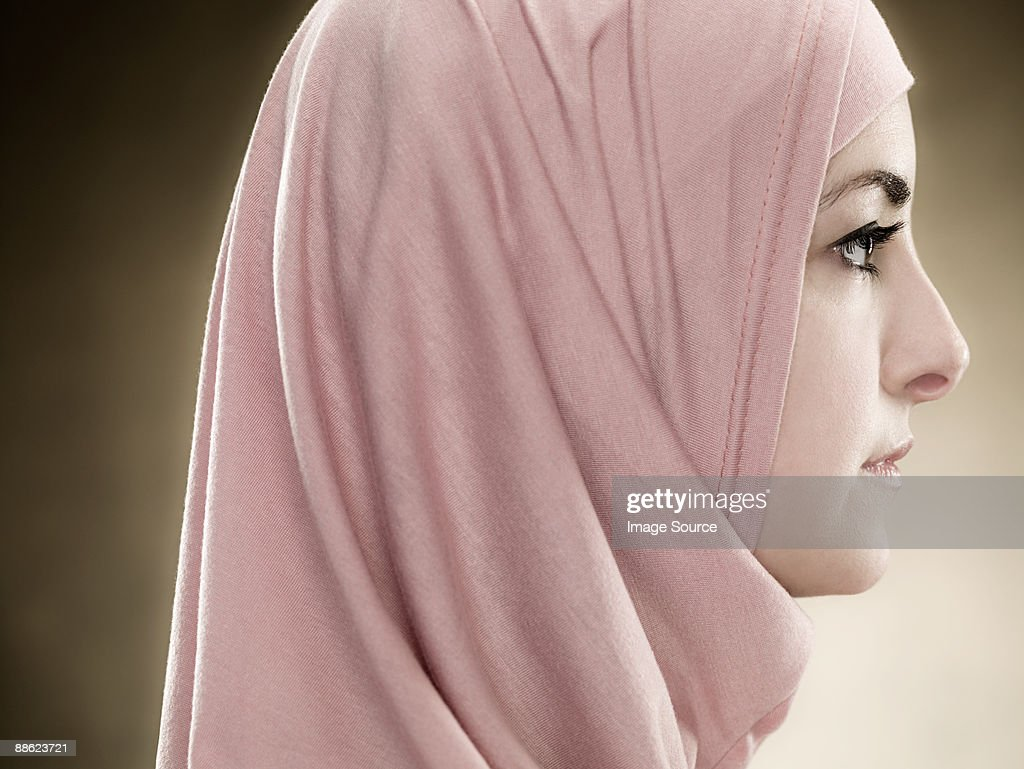 Profile of a young muslim woman