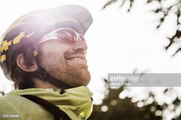 Profile of cyclist