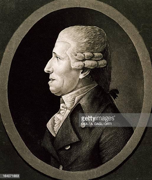 Profile of Franz Joseph Haydn Austrian composer and pianist Engraving 18th century Vienna Historisches Museum Der Stadt Wien