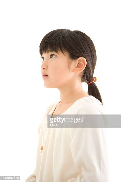 Profile of girl