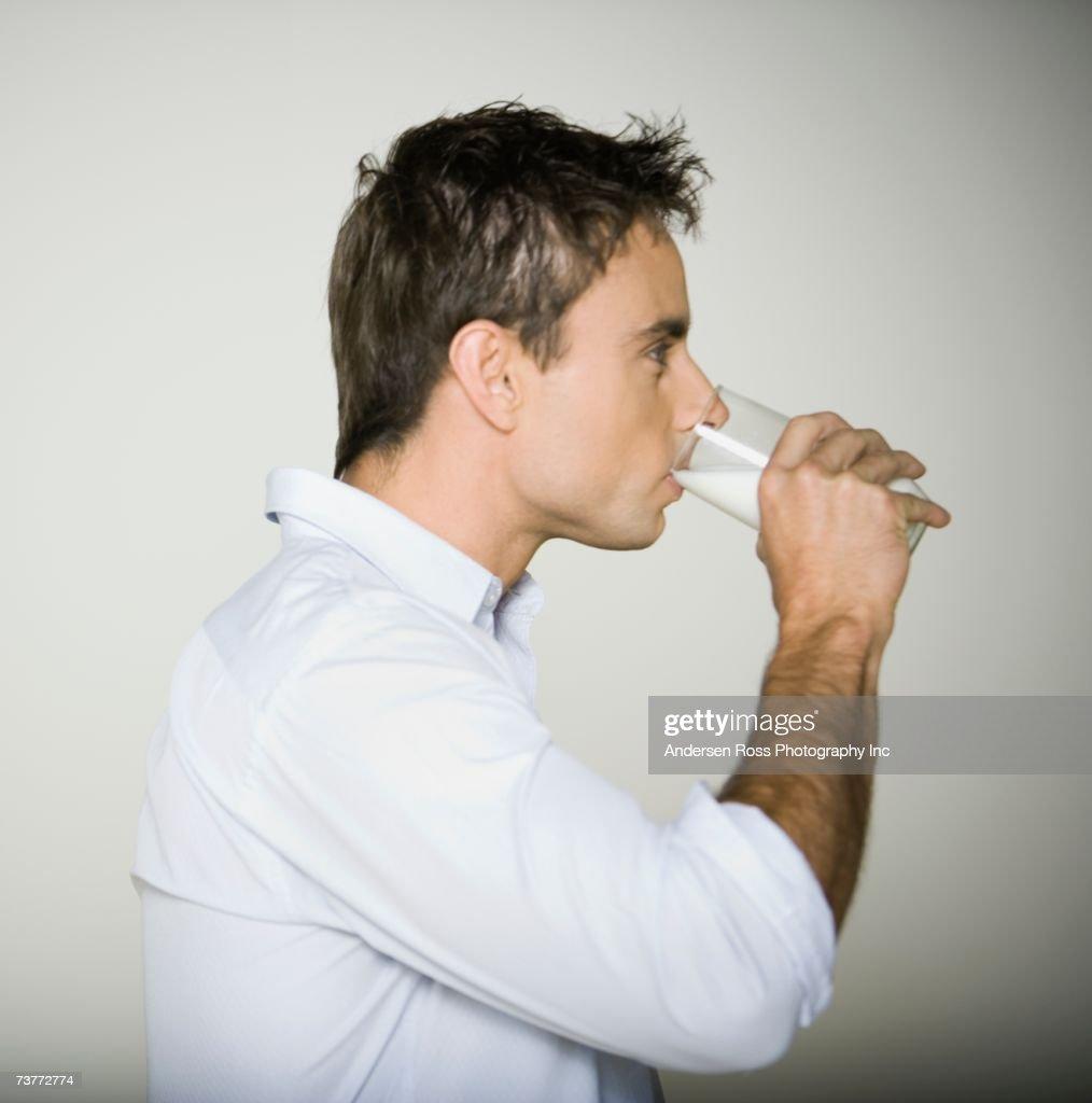 Man drinking wifes milk images free