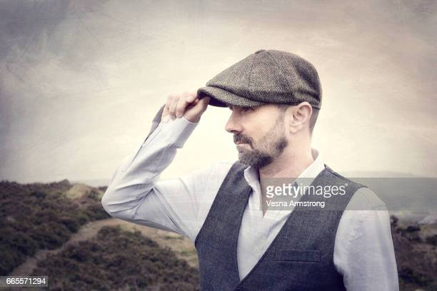 Profile of Man in Shirt Sleeves and Waistcoat