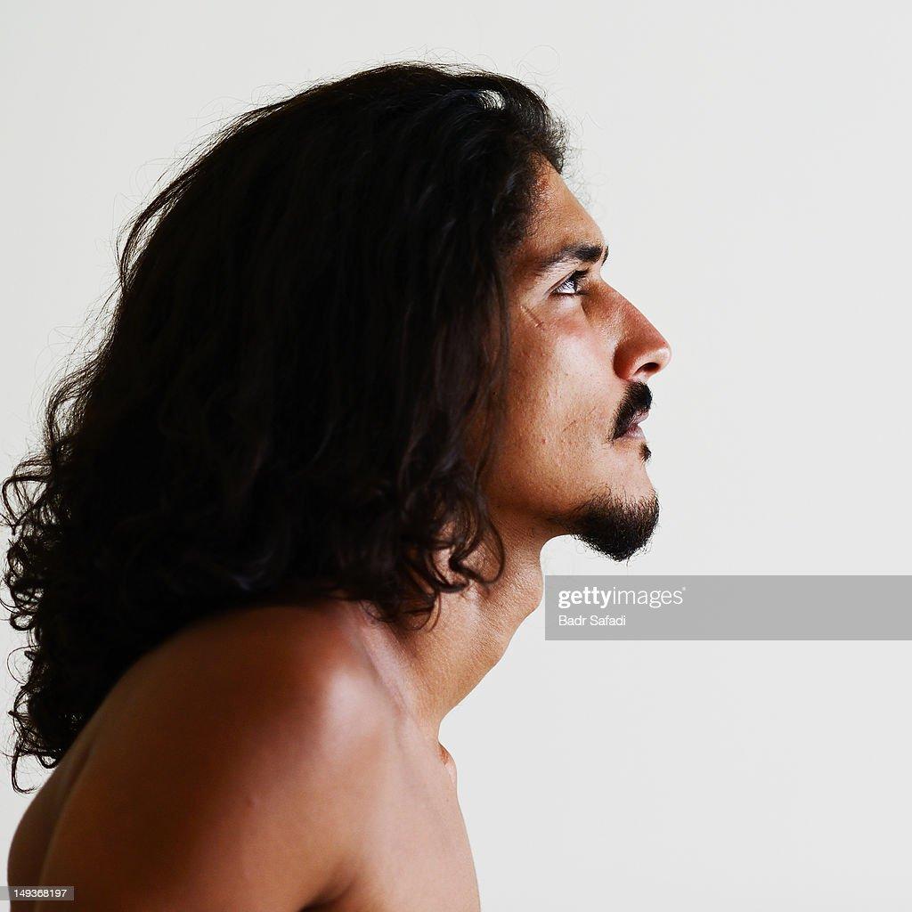 Profile of man : Stock Photo