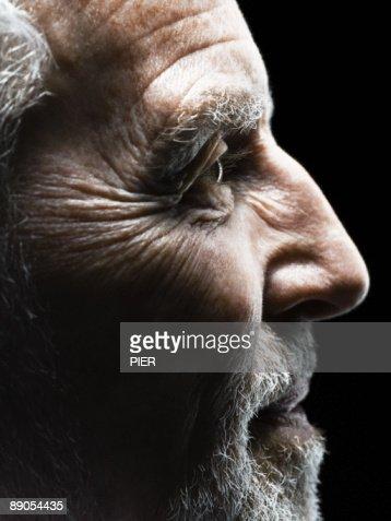 Profile of mature man