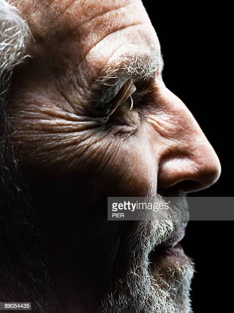 Profile of mature man