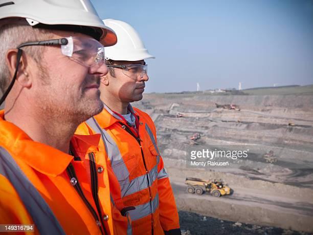 Profile of miners in opencast coalmine
