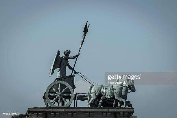 Profile of Quadriga atop Brandenburg Gate