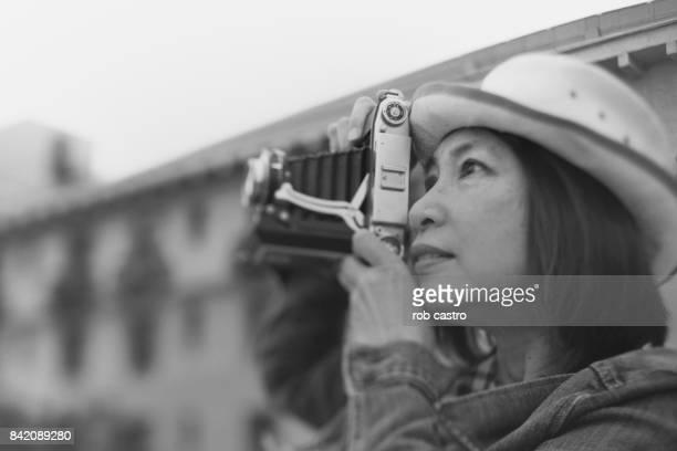 Profile of Woman Photographer