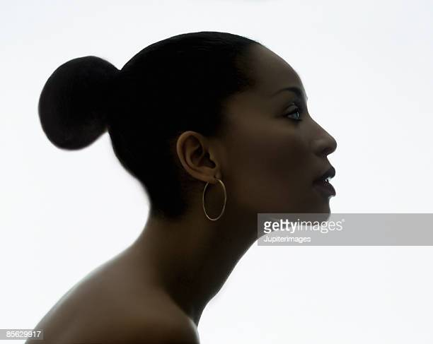 Profile of Woman with Hair in Bun
