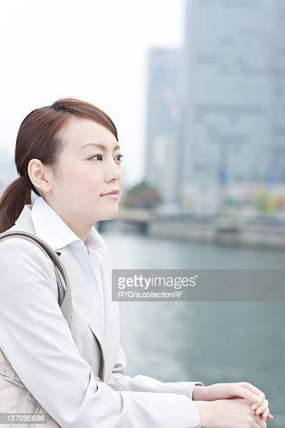 Profile of young businesswoman