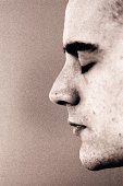 Profile of young man