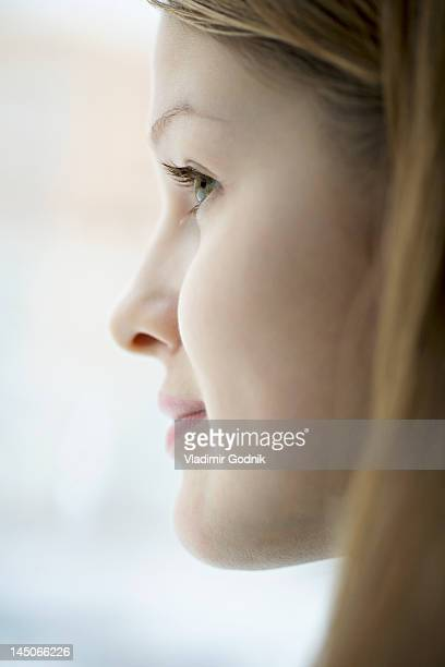 Profile of young woman