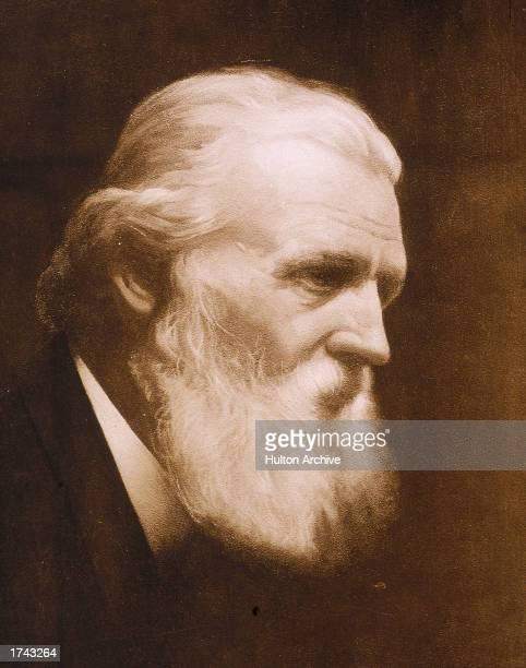 Profile portrait of American naturalist John Muir